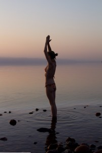 Sun Salutation at the Dead Sea